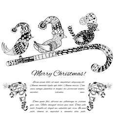 Doodle textured christmas vector