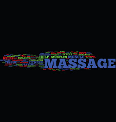 Fitness related benefits of massage text vector