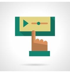 Flat color design media player icon vector image