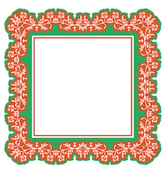 Floral frame abstract vector