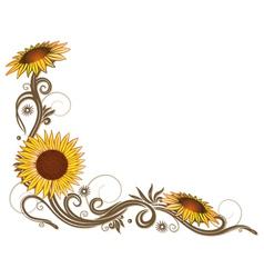 Flowers floral elements border vector