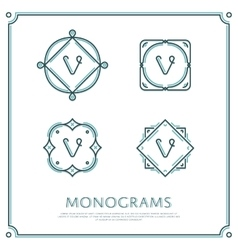 Letter v monogram vector