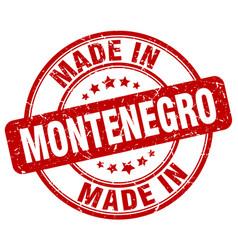 made in montenegro vector image vector image