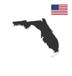 Map of the us state of florida vector