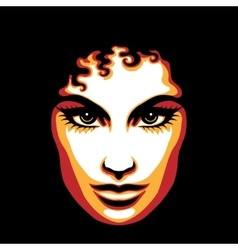 Poster Style Woman Face vector image vector image