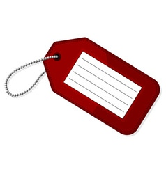 Red luggage tag vector