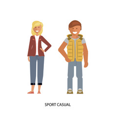 sport casual suits vector image