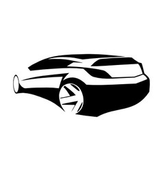 Sports car black silhouette vector image