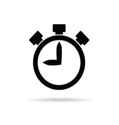 stopwatch in black vector image vector image