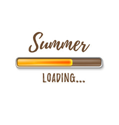 summer loading bar isolated on white background vector image
