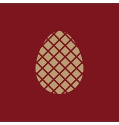 The egg icon easter egg symbol ui web logo vector