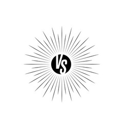 versus icon vs letters is into round circle shape vector image