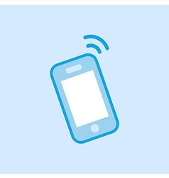 Smartphone icon simple blue vector