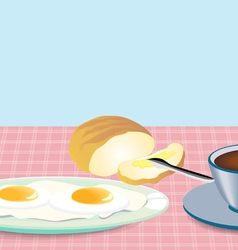 Morning breakfast vector