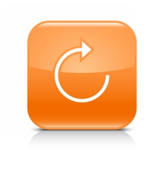 Orange arrow repeat reload refresh rotation sign vector