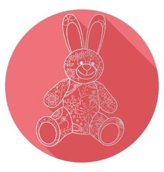 Flat icon of bunny toy vector