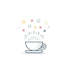 Energizing drink refreshing tea and coffee cup vector
