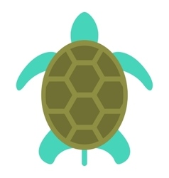 Turtle icon isolated on white flat style vector