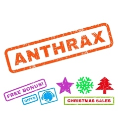 Anthrax rubber stamp vector