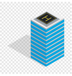 Helicopter landing pad isometric icon vector