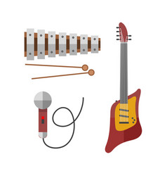 Guitar icon stringed electric musical instrument vector