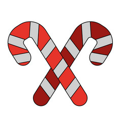 white background with christmas candy cane with vector image