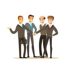 Group of businessmen having meeting in office vector