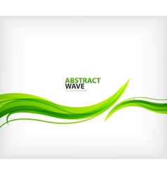 Modern green eco swirl abstraction vector