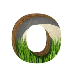 Grass cutted figure o paste to any background vector