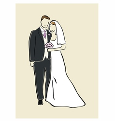 Newlyweds vector