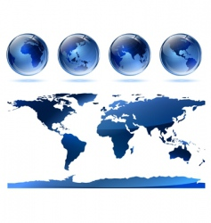 globes and map vector image