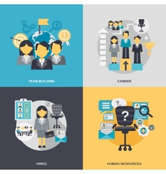 Human resources flat vector