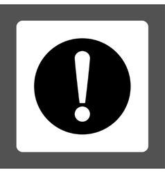 Problem flat black and white colors rounded button vector