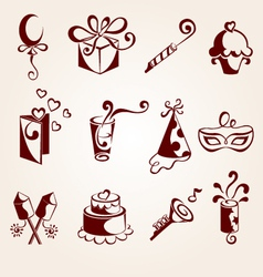 Party elements set vector
