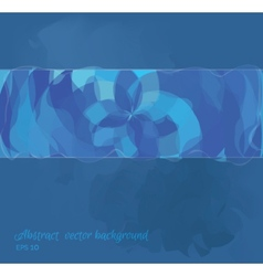Abstract background is blue shades eps10 vector image vector image
