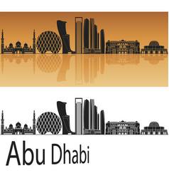 abu dhabi v2 skyline vector image