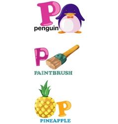 Alphabet letter - p vector