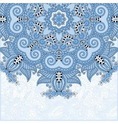 Blue colour floral round pattern vector