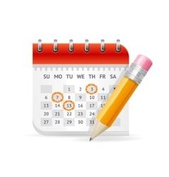 Calendar Business Concept vector image