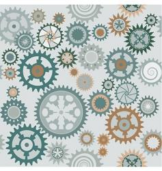 Clock cogwheels pattern vector