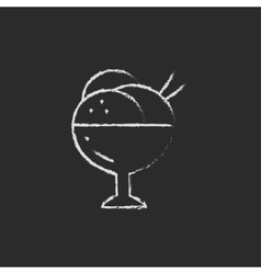 Cup of an ice cream icon drawn in chalk vector image vector image