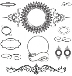 decorative ornament set vector image