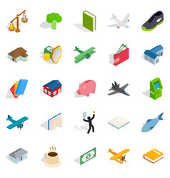 Diversity icons set isometric style vector