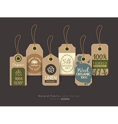 Eco friendly fabric cloth tag labels vector