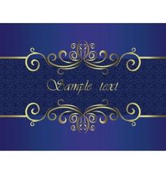 Elegant classic invitation vector
