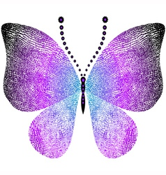 Fantasy grungy butterfly vector
