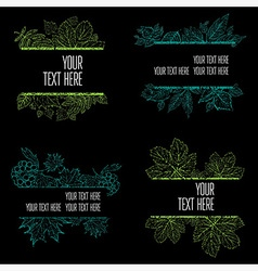 floral back big set 6 grunge vector image vector image
