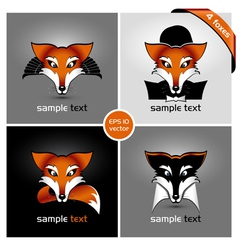 Four foxes vector