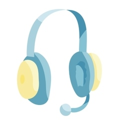 Headphones icon cartoon style vector image vector image