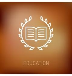 Line book icon vector